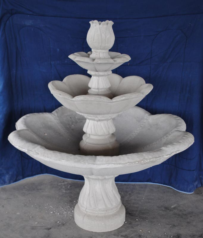3 Tier Concrete Fountain