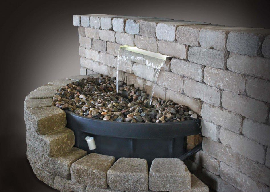 Diy water feature backyard waterfalls fountain fountain Diy wall water feature