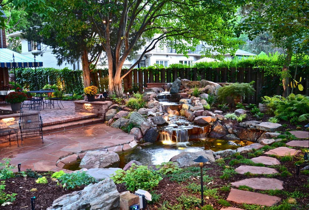 Backyard Creek Water Feature