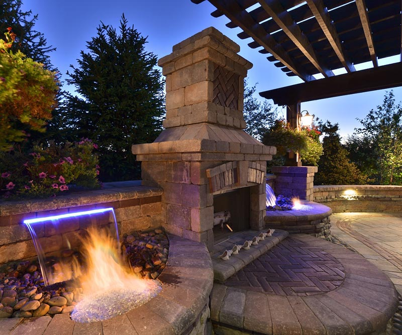 Backyard Fire and Water Features