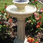 Backyard Solar Water Fountains
