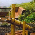 Bamboo Outdoor Water Fountain