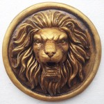 Bronze Lion Head Wall Fountain