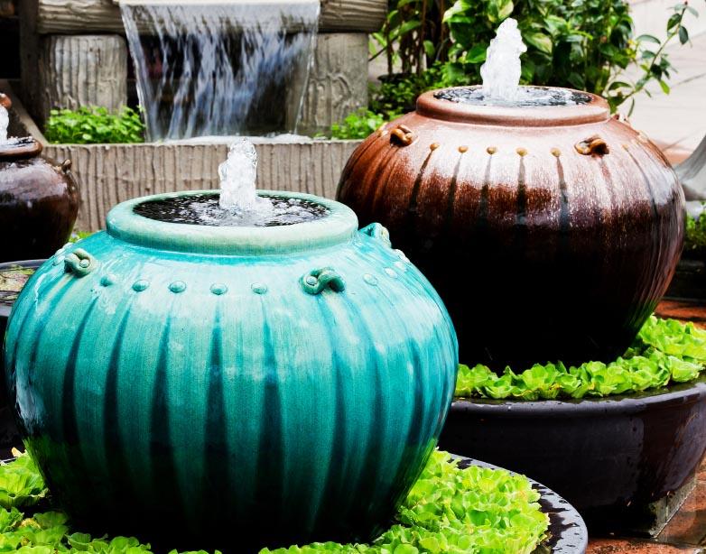 Ceramic Garden Fountains