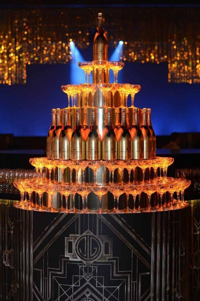 Champagne Water Fountain