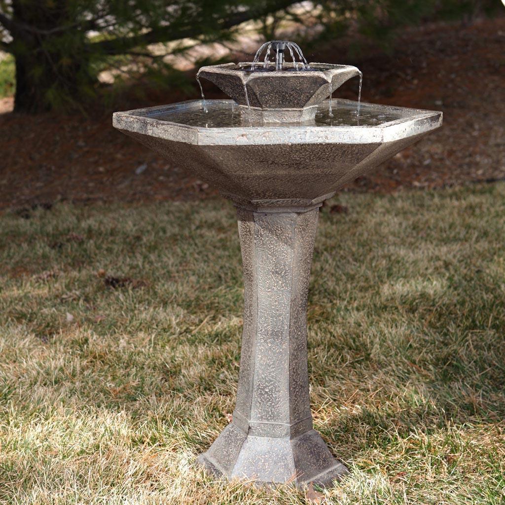 Concrete Bird Bath Fountain