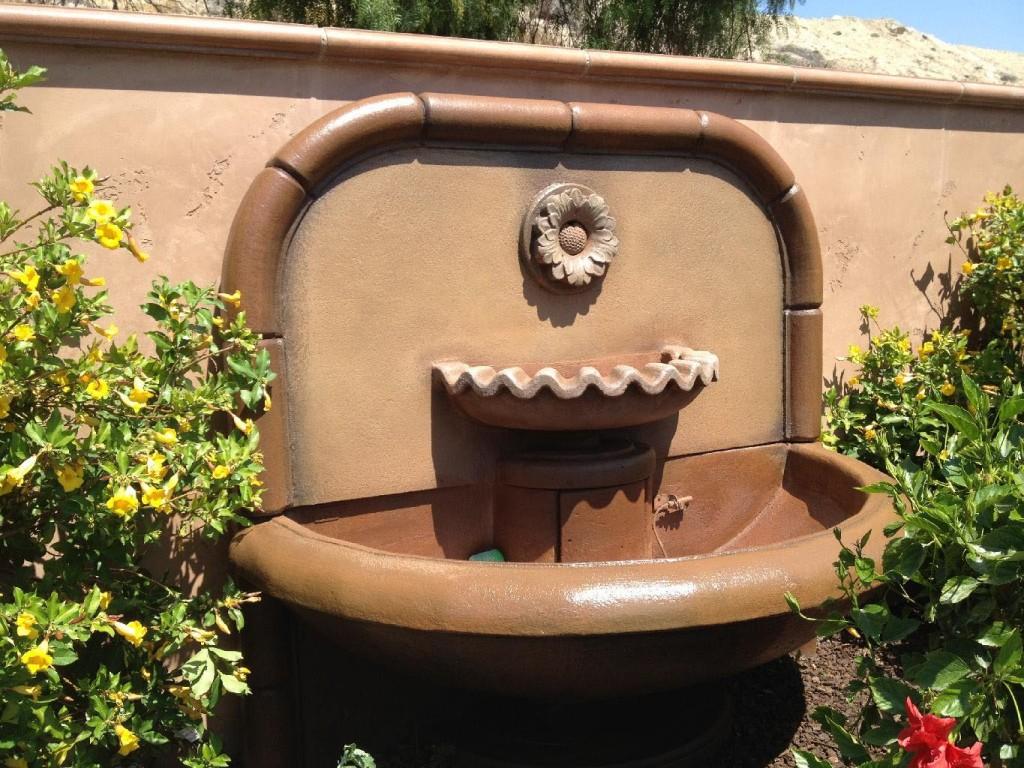 Concrete Fountain Stain