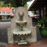 Concrete Lion Head Fountain