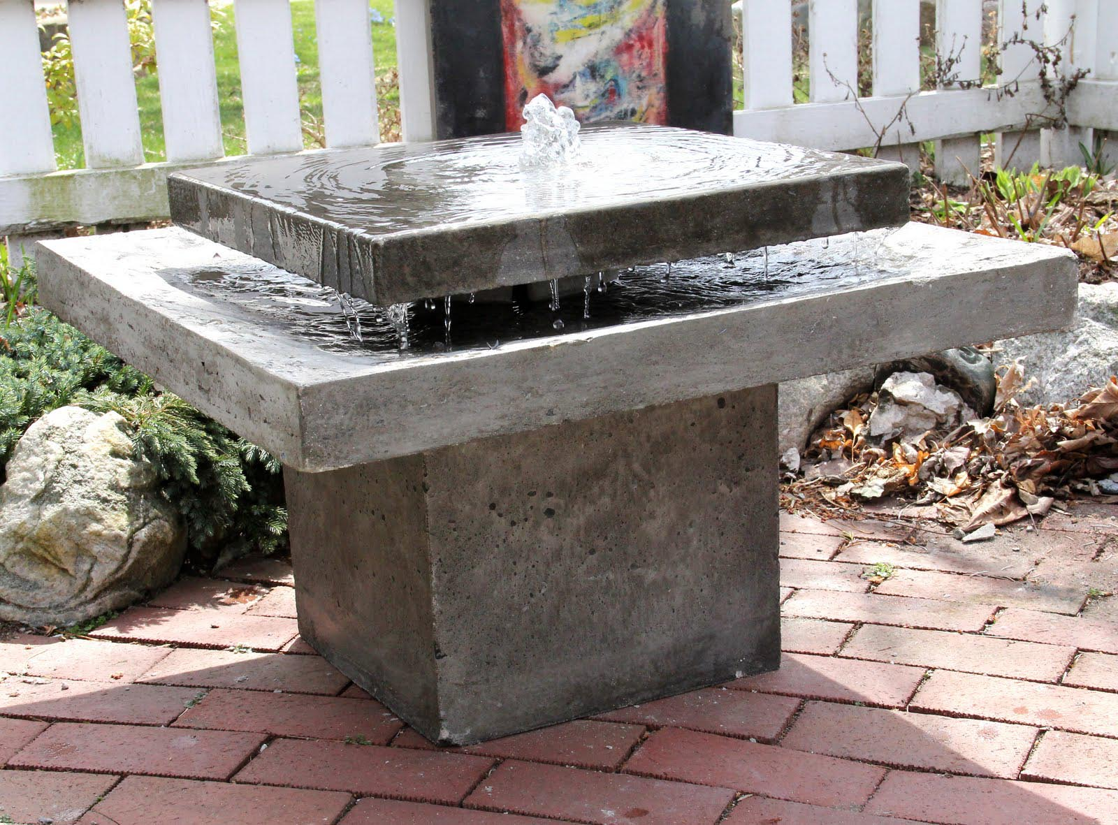 Concrete Water Fountain
