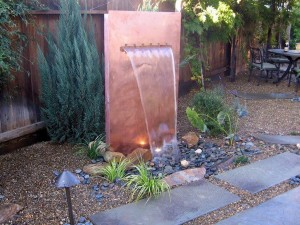 Copper Garden Fountain