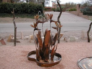Copper Outdoor Fountain