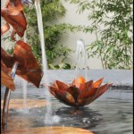Copper Water Lily Fountain