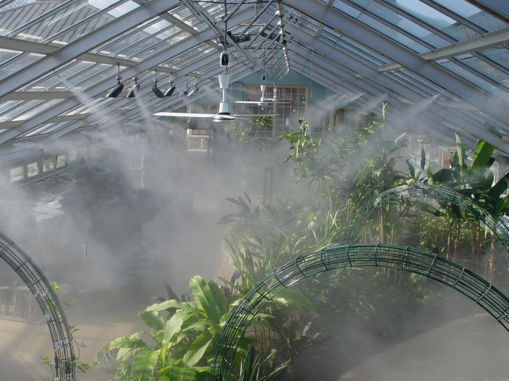 Garden Misting System : Diy greenhouse misting system fountain design ideas