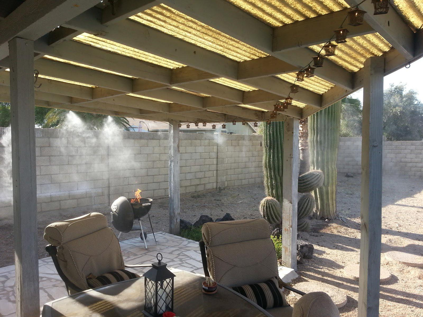 Parts Of A Patio Misting System : Diy outdoor mist cooling system fountain design ideas