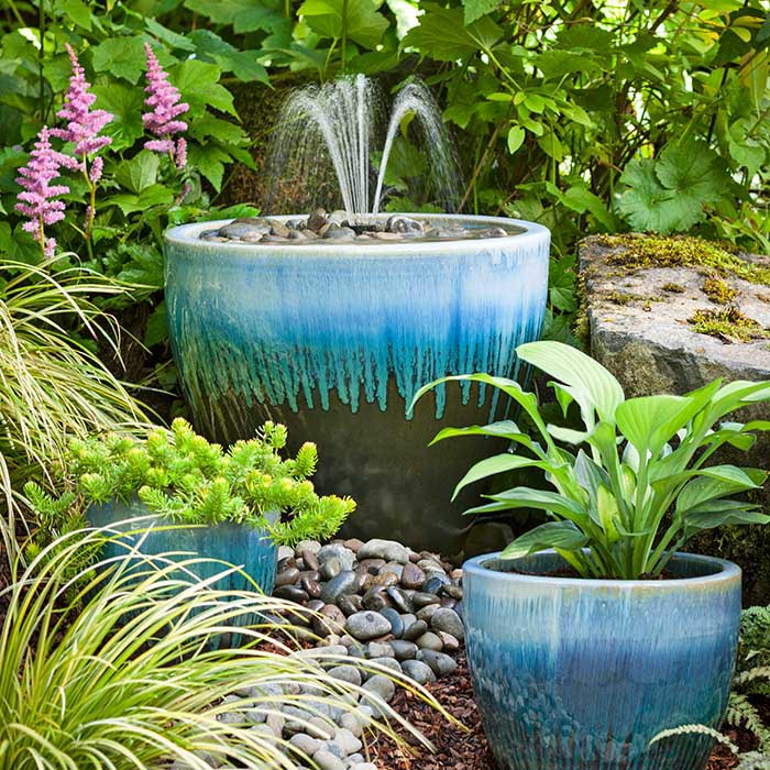 ... DIY Patio Fountain ...