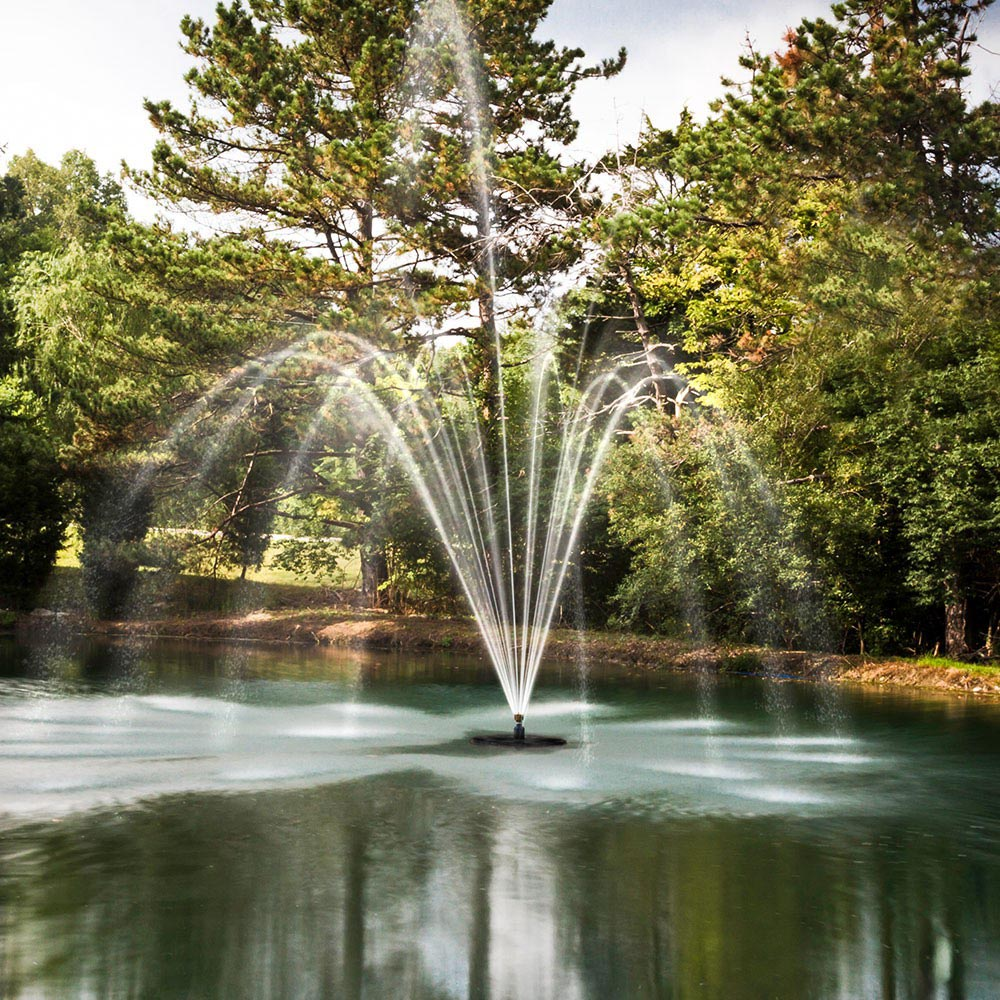 Floating fountains for ponds fountain design ideas for Pond with fountain