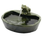 Frog Solar Water Fountain