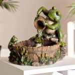 Frog Water Fountain Garden