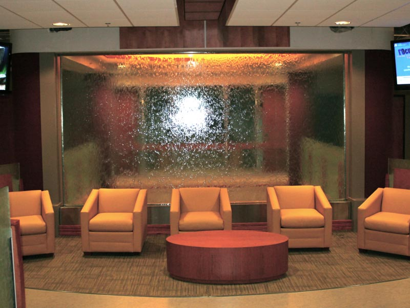 Glass water fountains indoor fountain design ideas for Indoor fountain design ideas