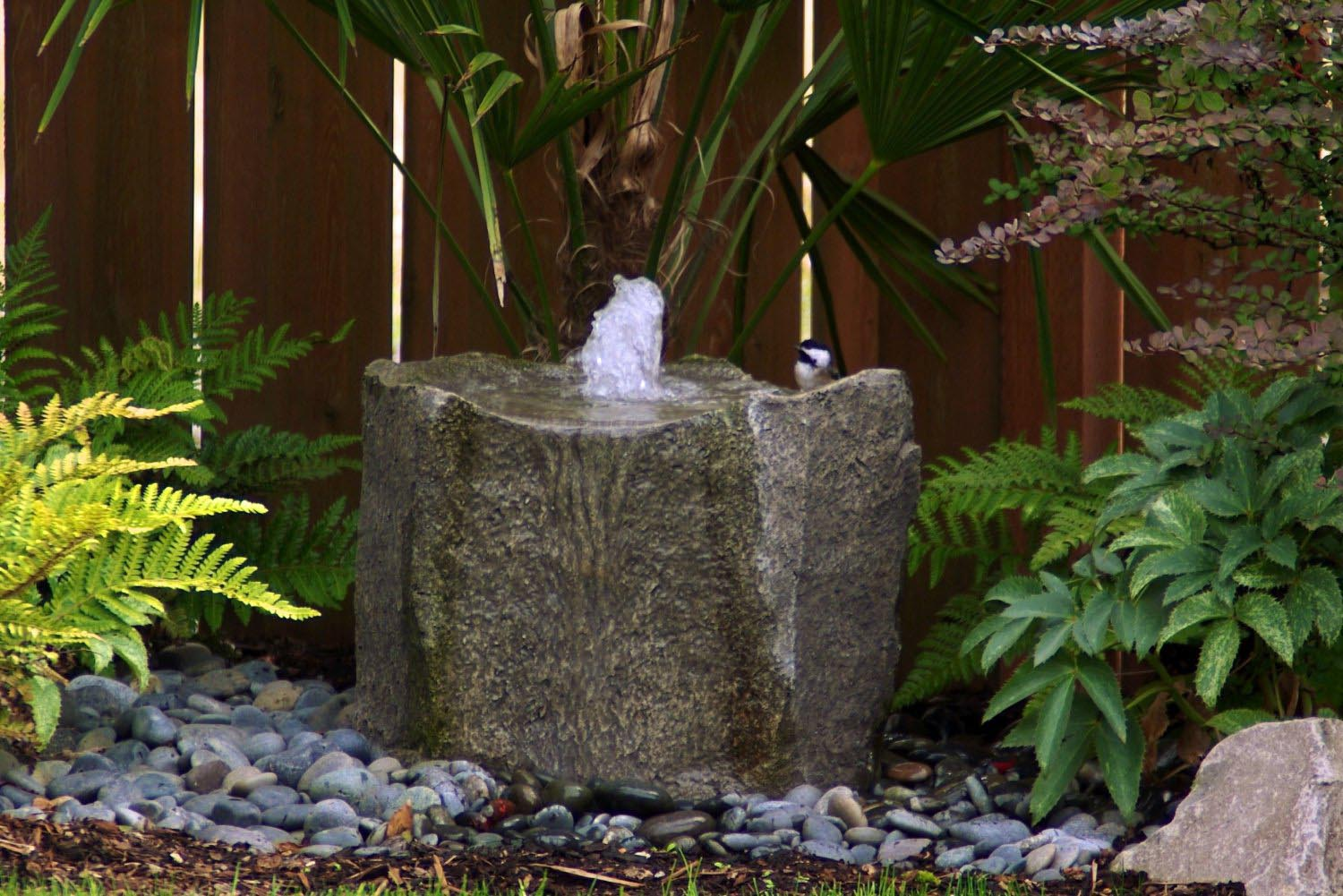 Home water fountains outdoor fountain design ideas for Waterfall fountain
