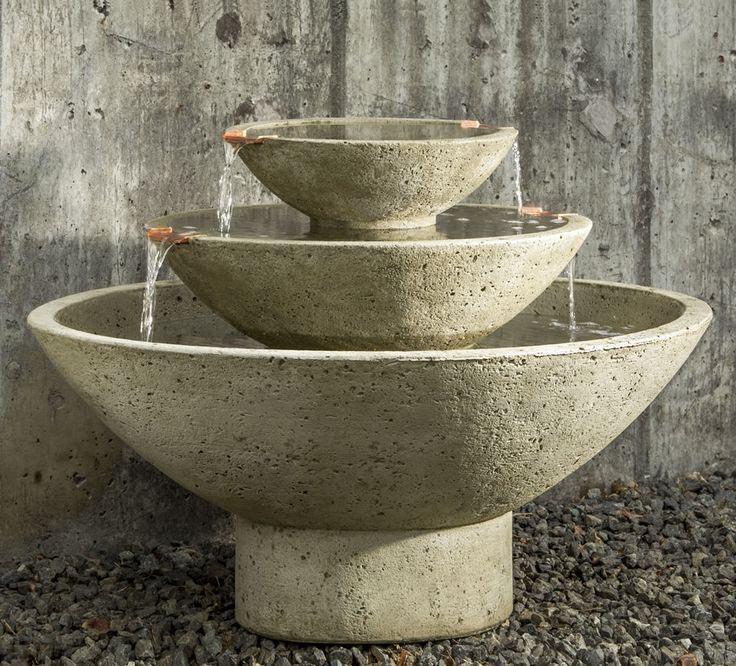 How to Paint a Concrete Fountain
