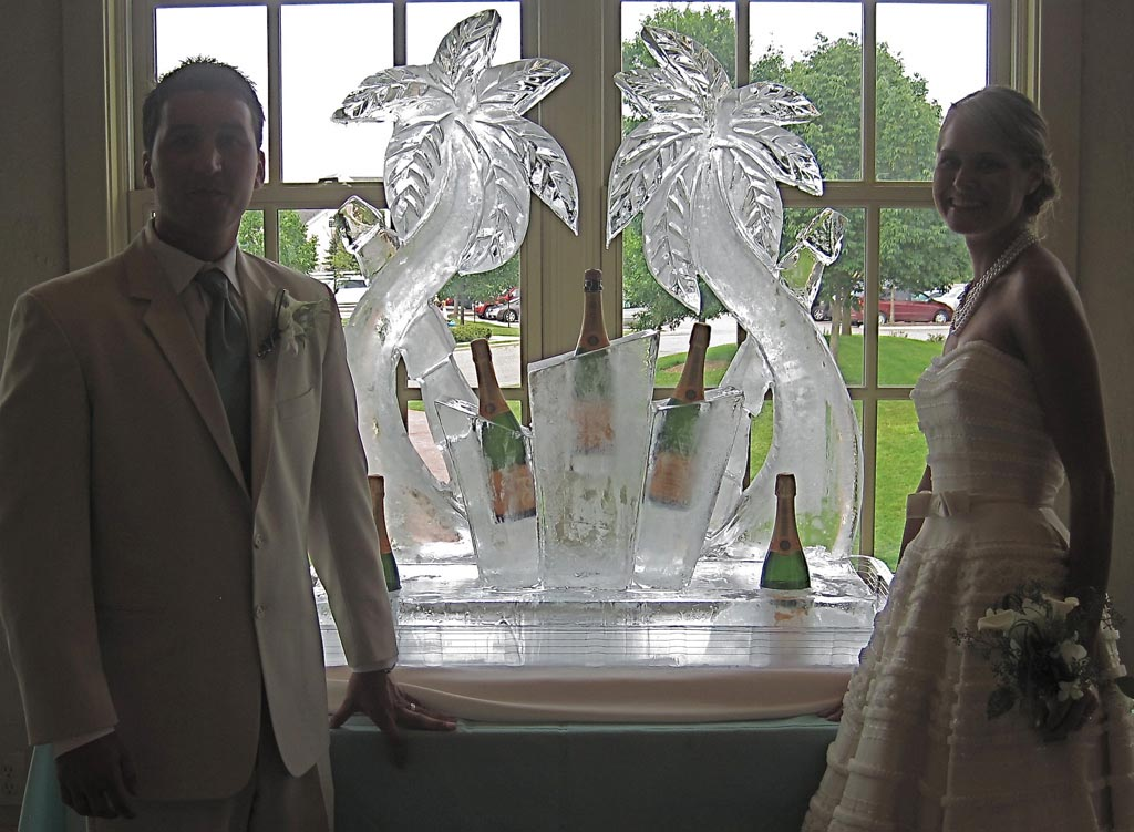 Ice Sculpture Champagne Fountain