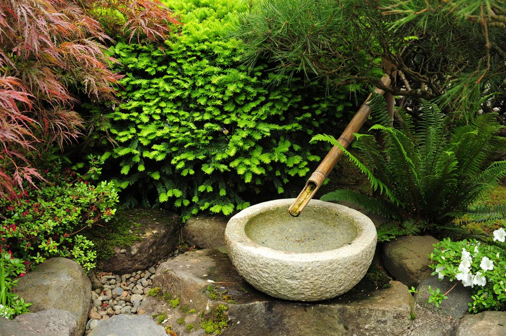 Japanese Garden Fountain Bamboo