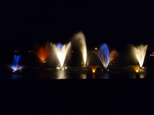 Lake Fountains with Lights