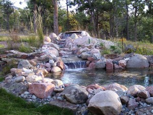 Landscape Water Fountains and Ponds