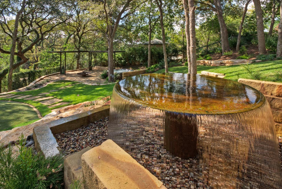 Landscape Water Fountains Ideas