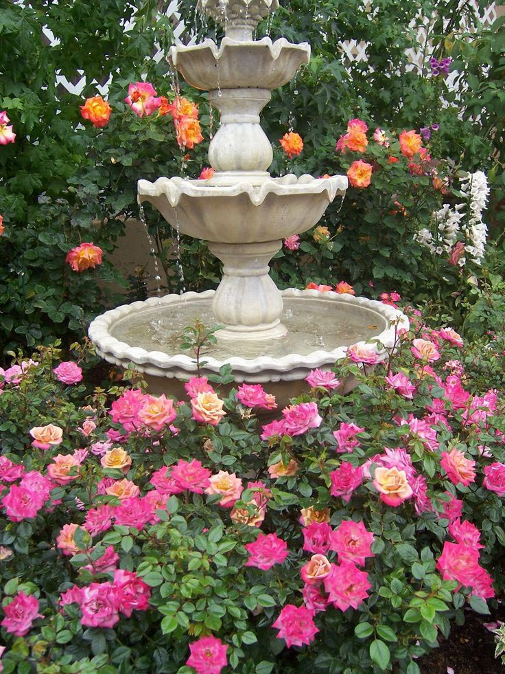 Landscaping Around Water Fountains