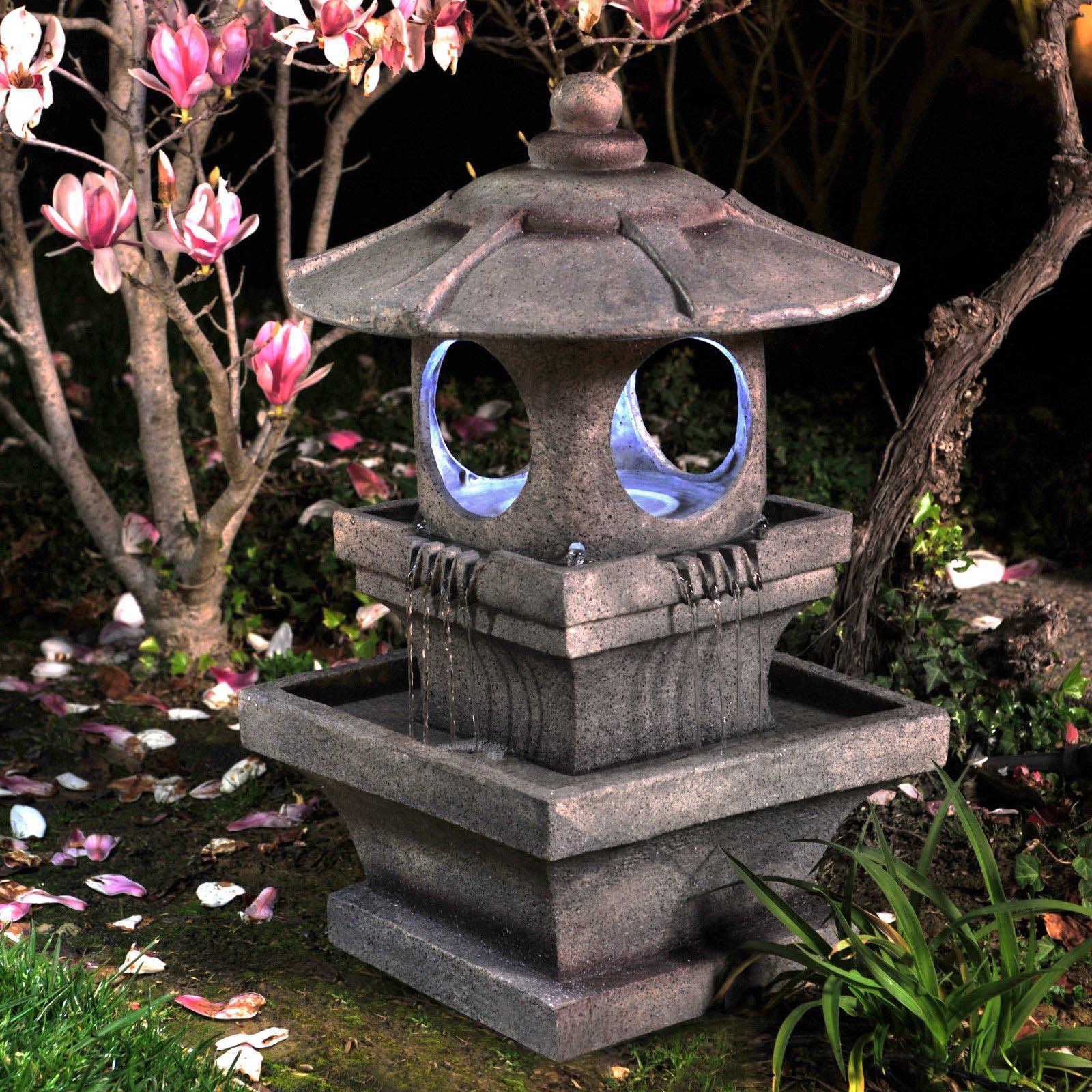 Lighted Garden Fountains
