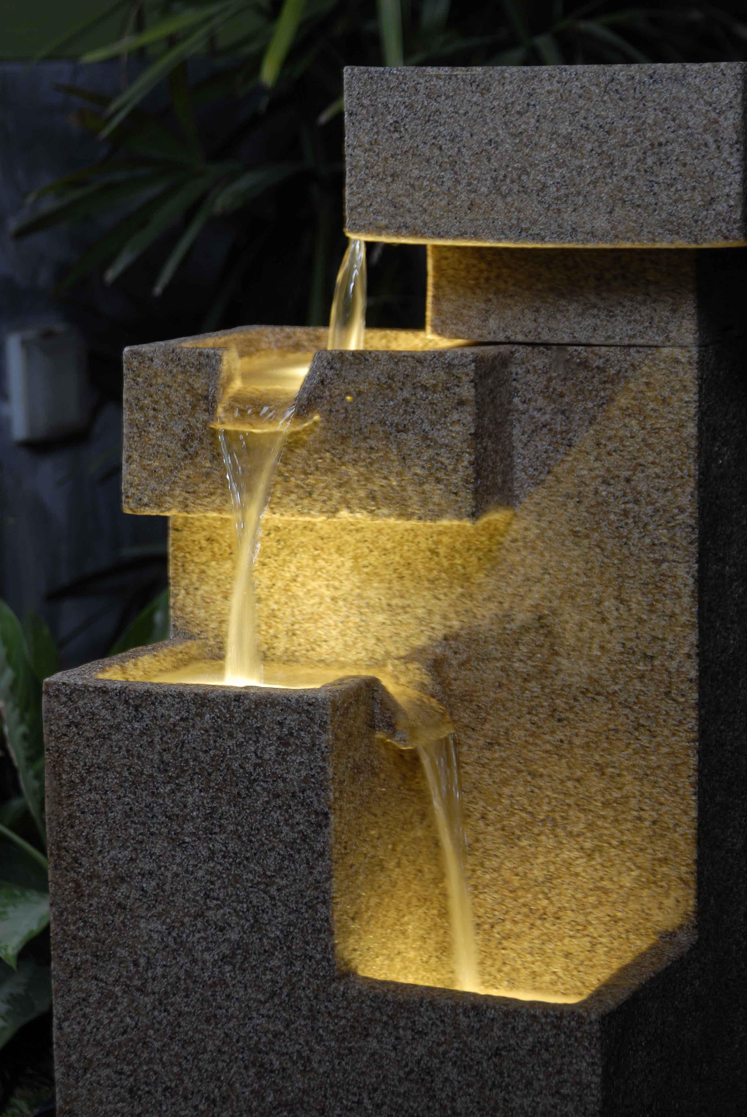 Lighted Water Fountains Outdoor Fountain Design Ideas