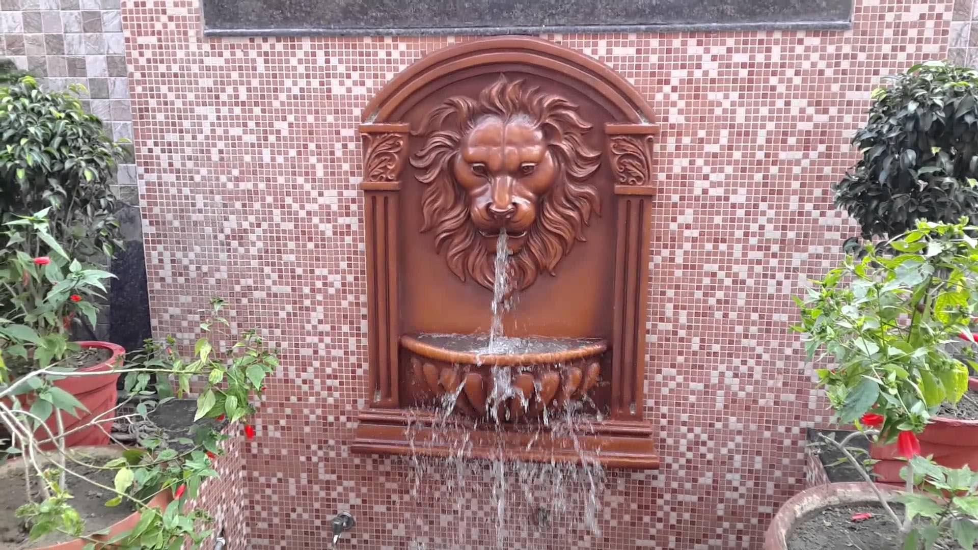 Lion Head Garden Fountain