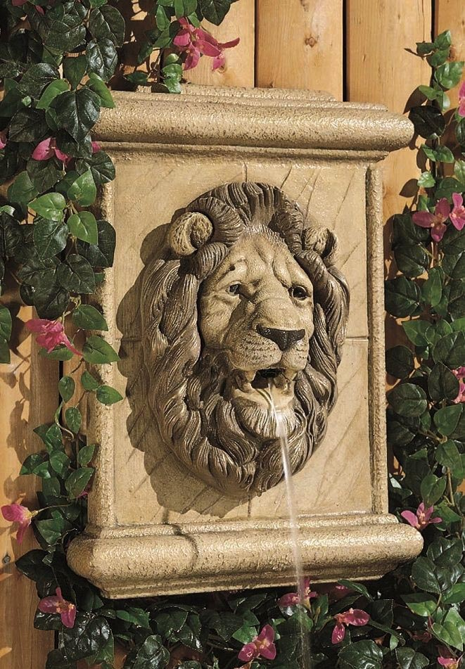 Lion Head Outdoor Wall Fountain