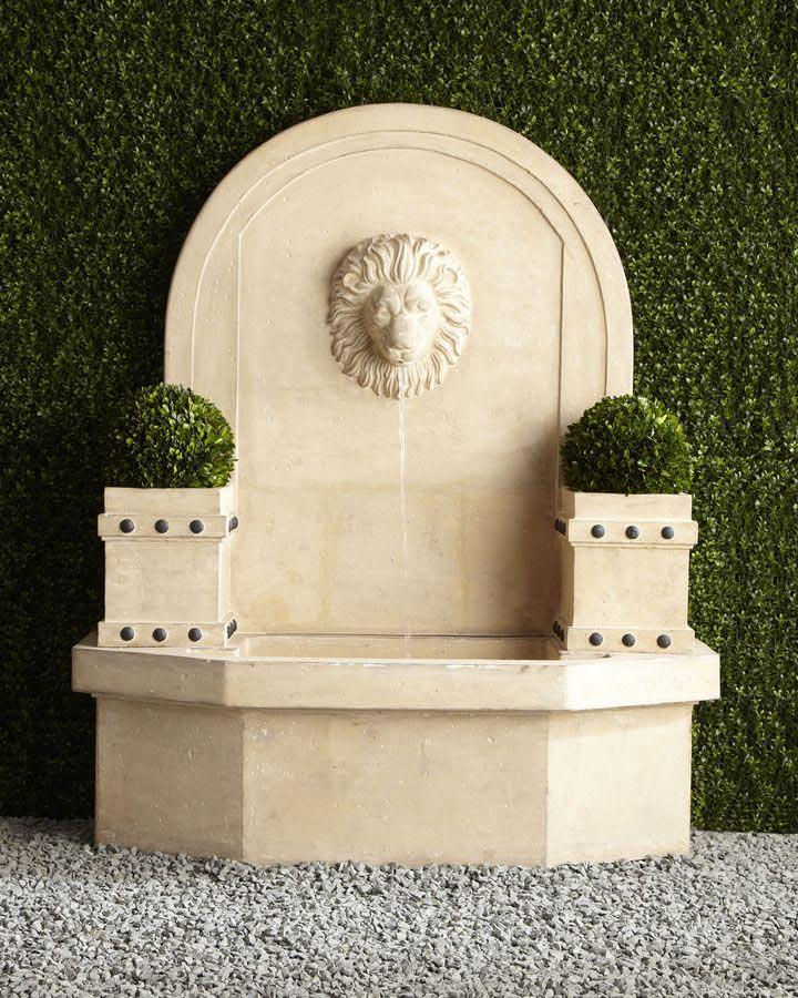 Lion Head Wall Fountain Outdoor