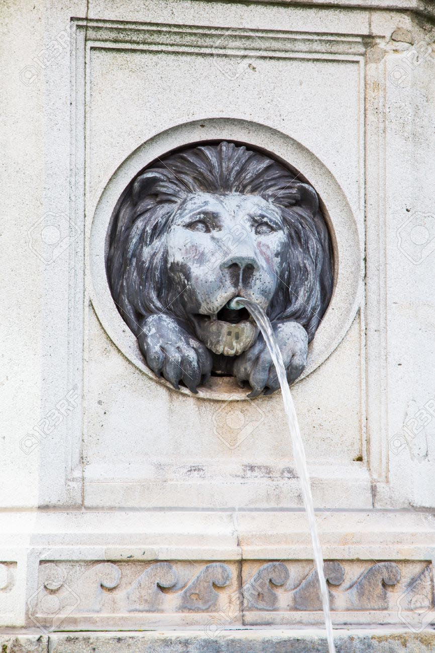 Lions Head Water Fountain