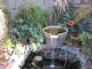 Outdoor Barrel Fountains