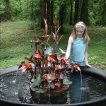 Outdoor Copper Garden Fountains