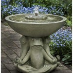 Outdoor Frog Fountain