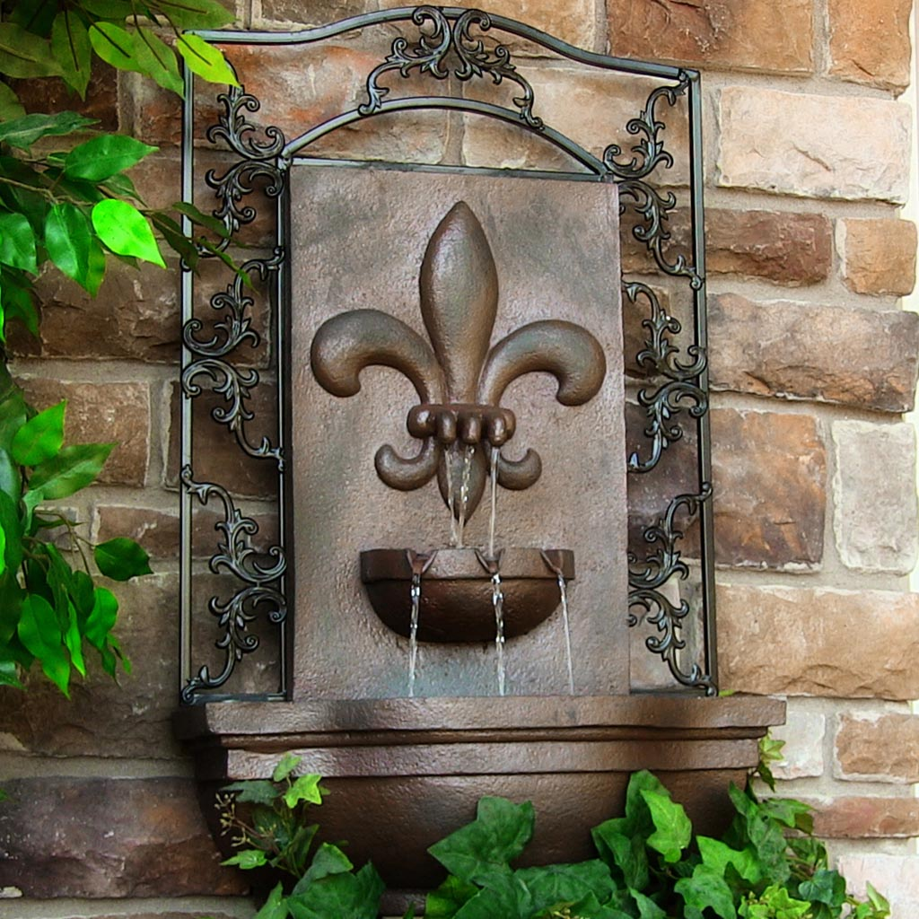 Outdoor wall water fountains fountain design ideas for Outdoor wall fountains