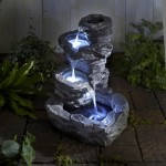 Outdoor Water Fountains with Lights