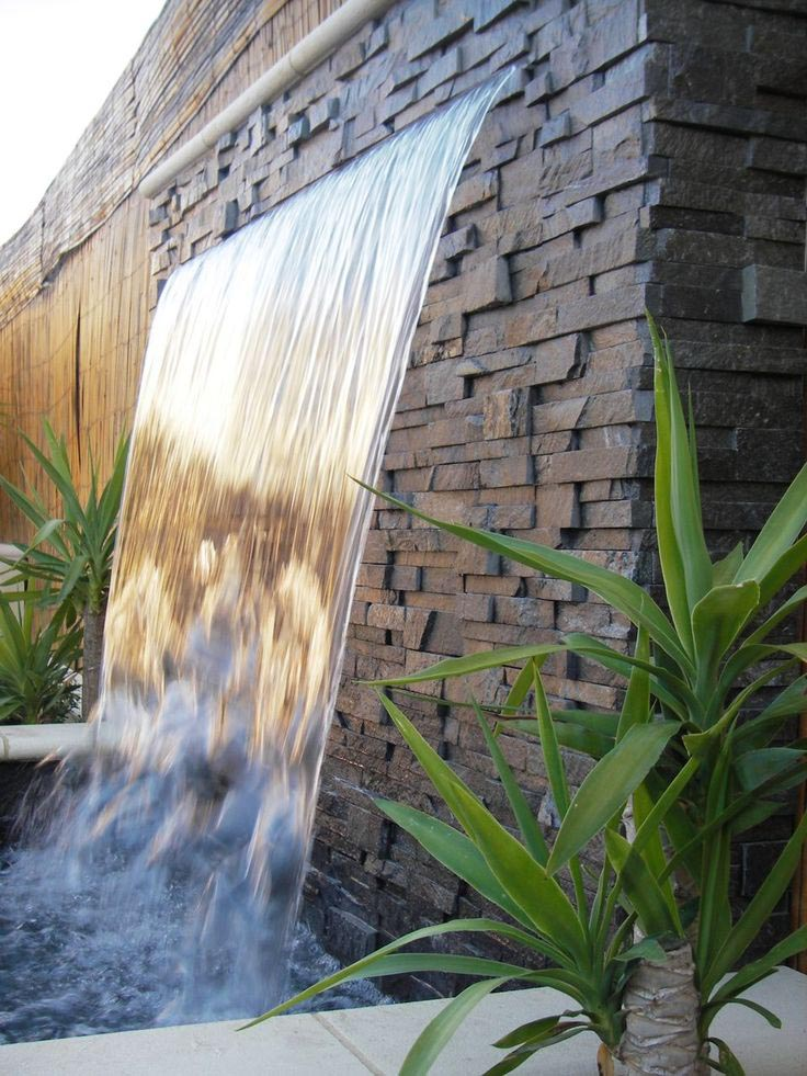 Outdoor Waterfall Fountains