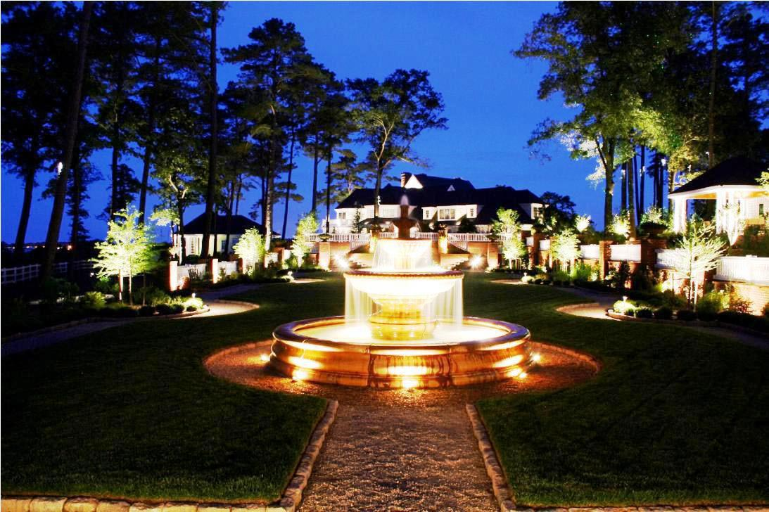 Patio Fountains with Lights