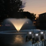 Pond Fountain Lights