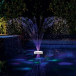 Pool Fountain with Lights