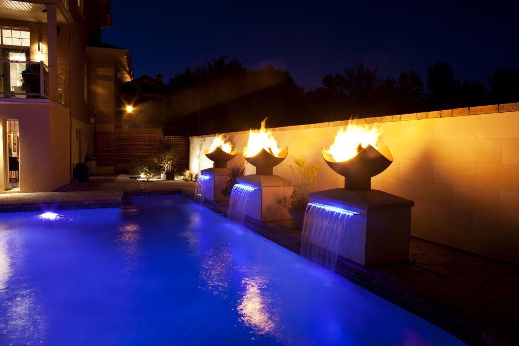Pool Light Fountain