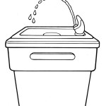 School Water Fountain Clipart