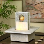 Slate Brick Wall LED Fountain