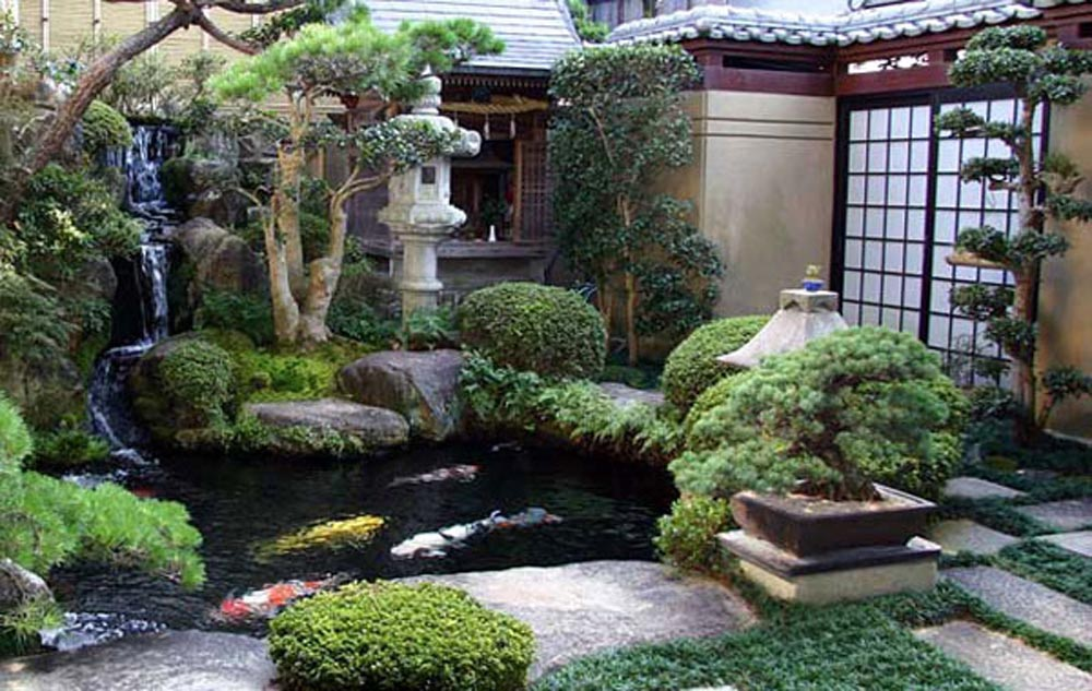 Small japanese water fountain fountain design ideas for Small japanese water garden